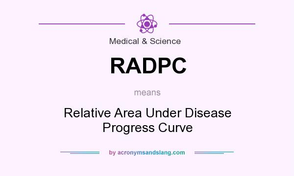 What does RADPC mean? It stands for Relative Area Under Disease Progress Curve