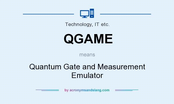 What does QGAME mean? It stands for Quantum Gate and Measurement Emulator