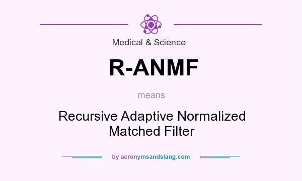 What does R-ANMF mean? It stands for Recursive Adaptive Normalized Matched Filter