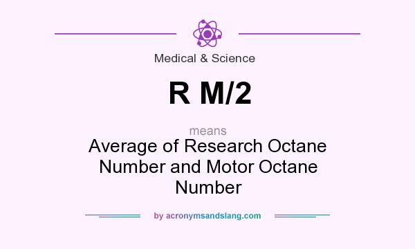 What does R M/2 mean? It stands for Average of Research Octane Number and Motor Octane Number
