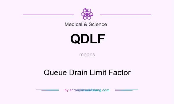 What does QDLF mean? It stands for Queue Drain Limit Factor