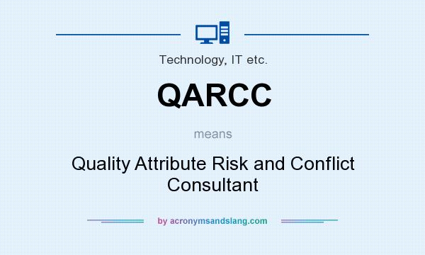 What does QARCC mean? It stands for Quality Attribute Risk and Conflict Consultant