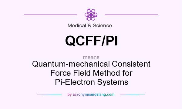 What does QCFF/PI mean? It stands for Quantum-mechanical Consistent Force Field Method for Pi-Electron Systems