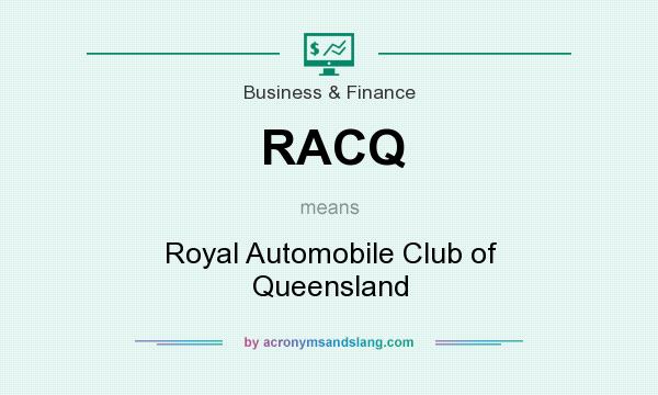 What does RACQ mean? It stands for Royal Automobile Club of Queensland