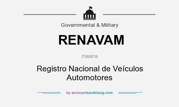 What does RENAVAM mean? It stands for Registro Nacional de Veículos Automotores