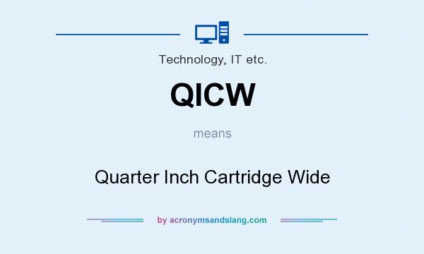 What does QICW mean? It stands for Quarter Inch Cartridge Wide