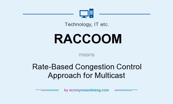What does RACCOOM mean? It stands for Rate-Based Congestion Control Approach for Multicast