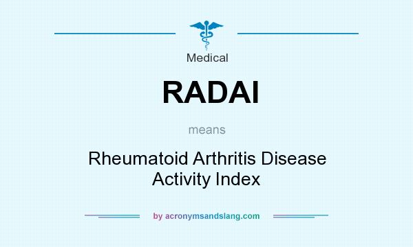 What does RADAI mean? It stands for Rheumatoid Arthritis Disease Activity Index