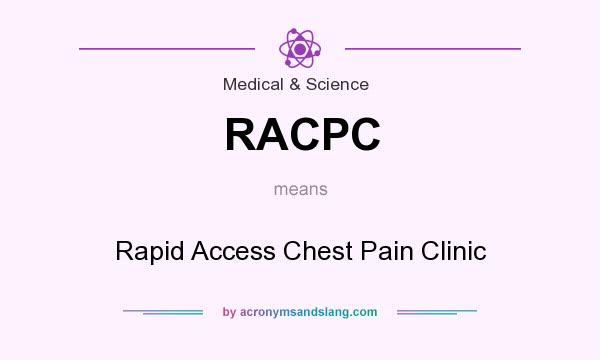 What does RACPC mean? It stands for Rapid Access Chest Pain Clinic