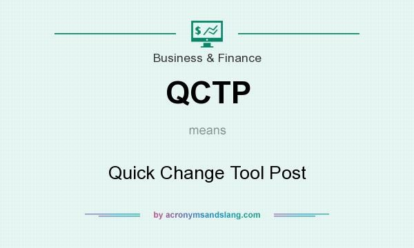 What does QCTP mean? It stands for Quick Change Tool Post