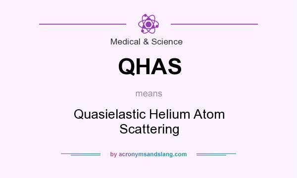 What does QHAS mean? It stands for Quasielastic Helium Atom Scattering