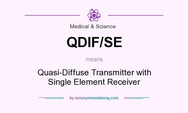 What does QDIF/SE mean? It stands for Quasi-Diffuse Transmitter with Single Element Receiver