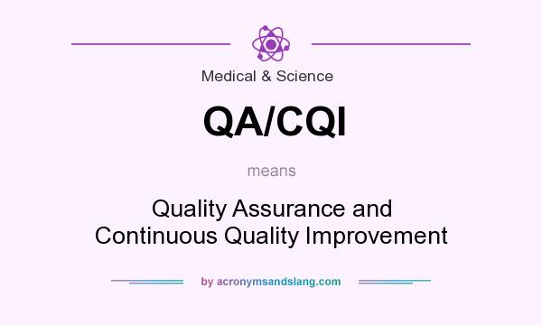 What does QA/CQI mean? It stands for Quality Assurance and Continuous Quality Improvement