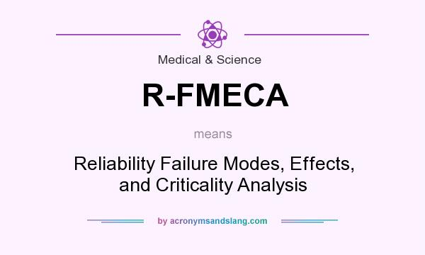 What does R-FMECA mean? It stands for Reliability Failure Modes, Effects, and Criticality Analysis