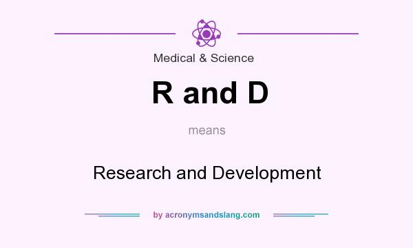 What does R and D mean? It stands for Research and Development