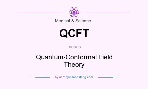 What does QCFT mean? It stands for Quantum-Conformal Field Theory