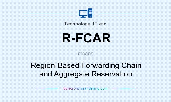 What does R-FCAR mean? It stands for Region-Based Forwarding Chain and Aggregate Reservation
