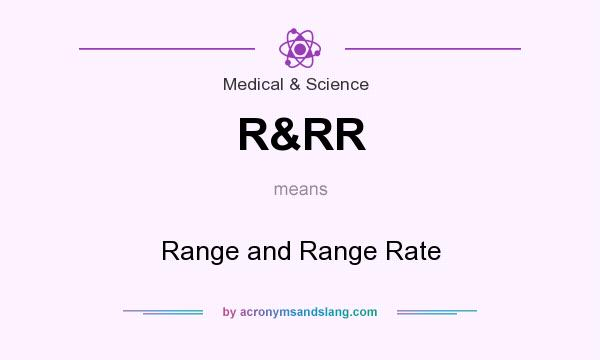 What does R&RR mean? It stands for Range and Range Rate