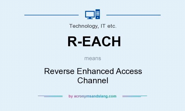 What does R-EACH mean? It stands for Reverse Enhanced Access Channel