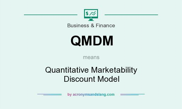 What does QMDM mean? It stands for Quantitative Marketability Discount Model