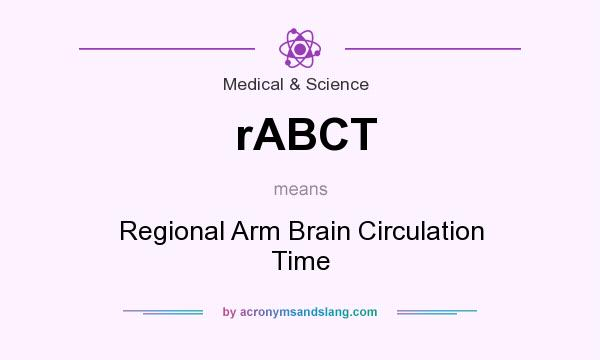 What does rABCT mean? It stands for Regional Arm Brain Circulation Time