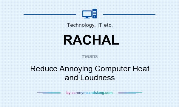 What does RACHAL mean? It stands for Reduce Annoying Computer Heat and Loudness