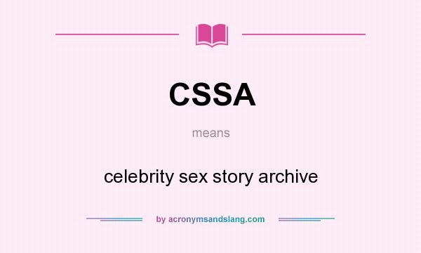 Celebrity sex story archive cssa