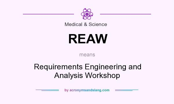 What does REAW mean? It stands for Requirements Engineering and Analysis Workshop