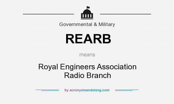 What does REARB mean? It stands for Royal Engineers Association Radio Branch