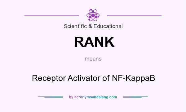 What does RANK mean? It stands for Receptor Activator of NF-KappaB
