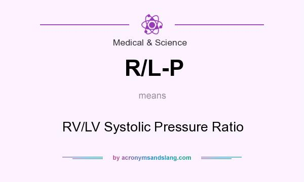What does R/L-P mean? It stands for RV/LV Systolic Pressure Ratio