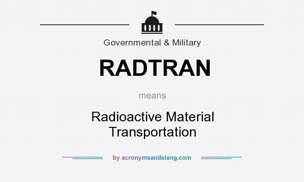 What does RADTRAN mean? It stands for Radioactive Material Transportation