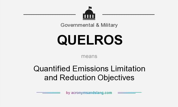 What does QUELROS mean? It stands for Quantified Emissions Limitation and Reduction Objectives