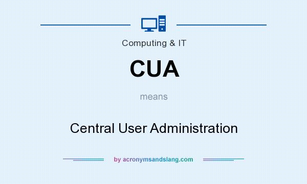 What does CUA mean? It stands for Central User Administration