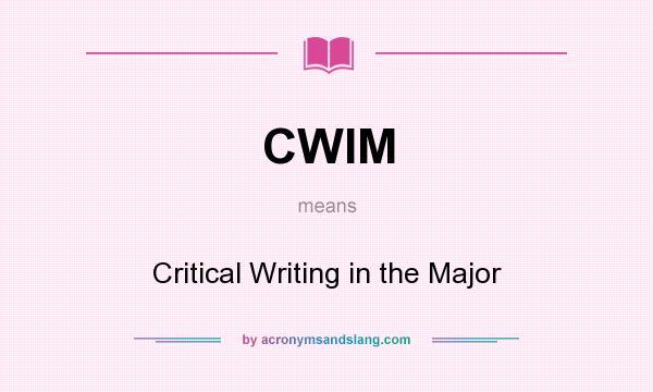 critical writing