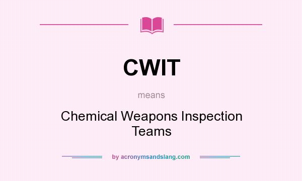 chemical weapons weapon inspection team essay