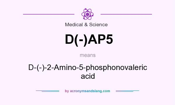 What does D(-)AP5 mean? It stands for D-(-)-2-Amino-5-phosphonovaleric acid