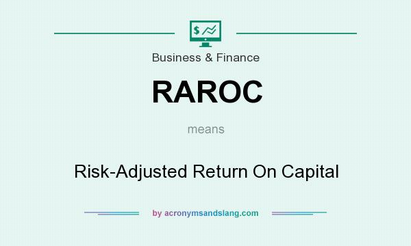 What does RAROC mean? It stands for Risk-Adjusted Return On Capital