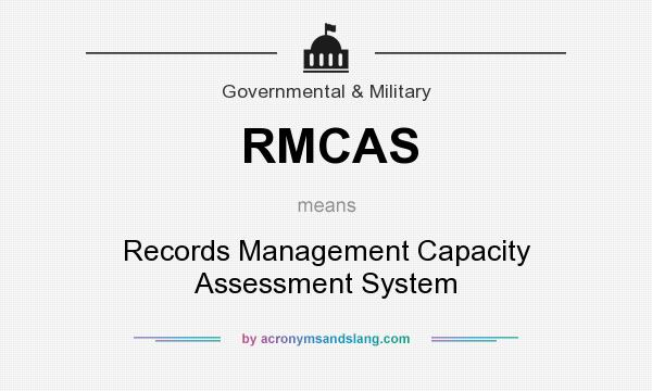 What does RMCAS mean? It stands for Records Management Capacity Assessment System