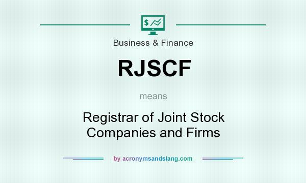What does RJSCF mean? It stands for Registrar of Joint Stock Companies and Firms