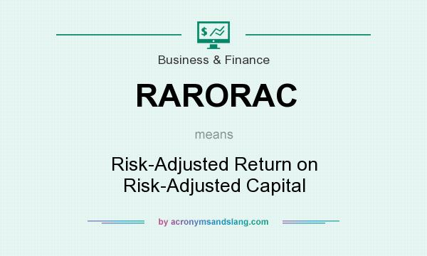 What does RARORAC mean? It stands for Risk-Adjusted Return on Risk-Adjusted Capital