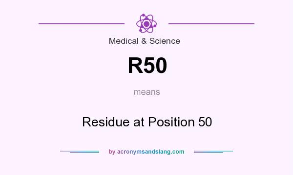 What does R50 mean? It stands for Residue at Position 50