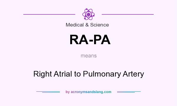 What does RA-PA mean? It stands for Right Atrial to Pulmonary Artery