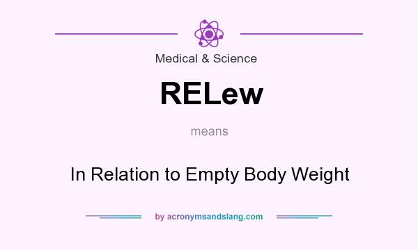 What does RELew mean? It stands for In Relation to Empty Body Weight