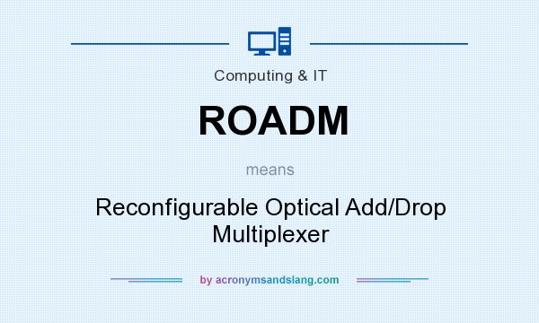 What does ROADM mean? It stands for Reconfigurable Optical Add/Drop Multiplexer