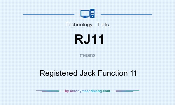 What does RJ11 mean? It stands for Registered Jack Function 11