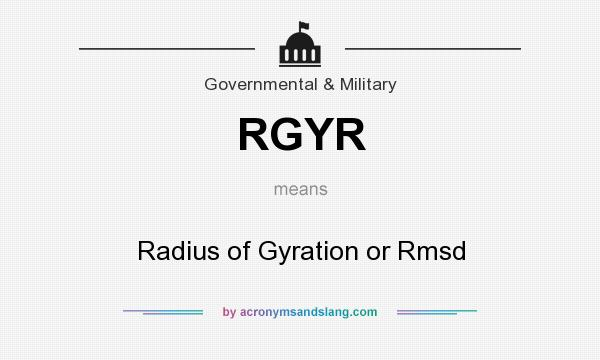 What does RGYR mean? It stands for Radius of Gyration or Rmsd