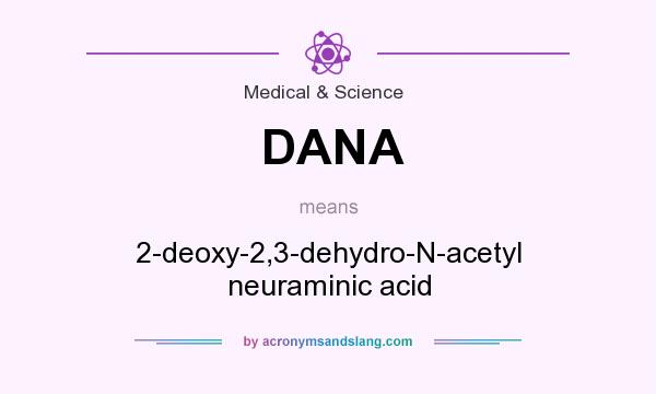 What does DANA mean? It stands for 2-deoxy-2,3-dehydro-N-acetyl neuraminic acid