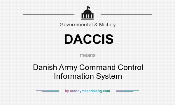 What does DACCIS mean? It stands for Danish Army Command Control Information System
