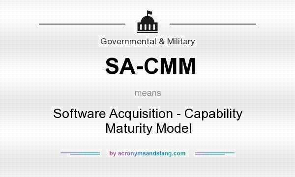 What does SA-CMM mean? It stands for Software Acquisition - Capability Maturity Model